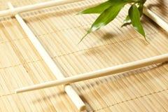 Fondo de bambú del extracto de la estera Imagen de archivo