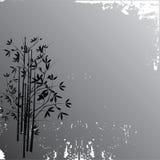 Fondo de bambú del grunge stock de ilustración