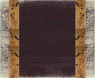 Fondo de bambú floral de la berenjena del marco de la bandera Foto de archivo libre de regalías