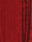 Fondo de bambú rojo Foto de archivo libre de regalías