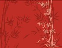 Fondo de bambú rojo stock de ilustración