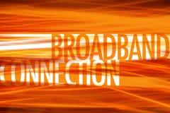 Fondo de banda ancha de la tecnología de la conexión Imagen de archivo