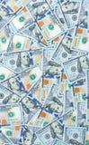Fondo de billetes de banco dispersados del dólar como inconsútiles abstracto Imágenes de archivo libres de regalías
