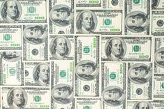 Fondo de billetes de banco dispersados del dólar como inconsútiles abstracto Imagen de archivo