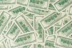 Fondo de billetes de banco dispersados del dólar como inconsútiles abstracto Fotos de archivo libres de regalías