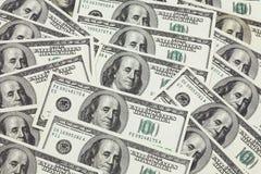Fondo de billetes de banco en 1 Imagen de archivo libre de regalías