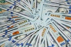 Fondo de 100 billetes de dólar Foto de archivo libre de regalías