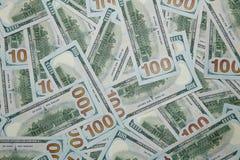 Fondo de 100 billetes de dólar Imagenes de archivo