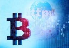 Fondo de Bitcoin Foto de archivo