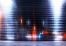 Fondo de 8 bits retro de la textura de la ciudad de la noche foto de archivo