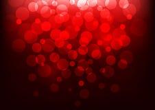 Fondo de Bokeh con la luz roja Ilustración del vector Imagenes de archivo