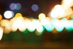 Fondo de Bokeh de la noche de la ciudad Fotografía de archivo