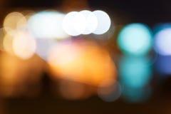 Fondo de Bokeh de la noche de la ciudad Fotos de archivo libres de regalías