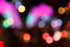 Fondo de Bokeh de la noche de la ciudad Imagen de archivo