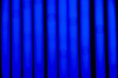 Fondo de Bokeh de las tiras azules del LED Fotos de archivo libres de regalías