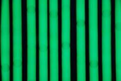 Fondo de Bokeh de las tiras verdes del LED Foto de archivo libre de regalías