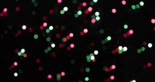 Fondo de Bokeh Garland Multicolored Abstract Blurred Background centellante almacen de video