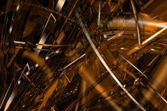 Fondo de bronce abstracto 3D Imagenes de archivo