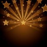 Fondo de Brown con las estrellas ilustración del vector