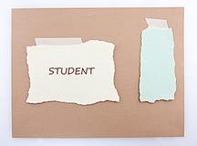 Fondo de Brown del estudiante Foto de archivo libre de regalías