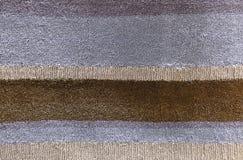 Fondo de Brown y de Gray Line Plush Fabric Texture Imágenes de archivo libres de regalías
