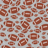 Fondo de Brown y de Gray Football Tile Pattern Repeat Fotos de archivo libres de regalías