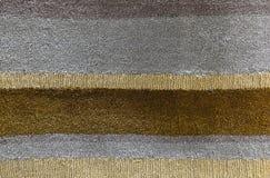 Fondo de Brown y de Gray Line Plush Fabric Texture Imagenes de archivo