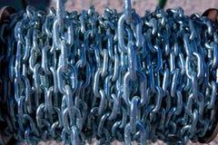 Fondo de cadena del modelo del hardware del carrete Imagen de archivo libre de regalías
