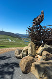 Fondo de Canberra del arboreto de la escultura de la jerarquía de Eagles Imagen de archivo libre de regalías