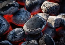 Fondo de carbones calientes fotos de archivo
