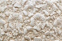 Fondo de cerámica del estampado de flores Fotos de archivo libres de regalías
