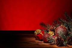 Fondo de Chrismas y del Año Nuevo Fotografía de archivo