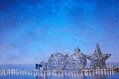 Fondo de Chrismas y del Año Nuevo fotografía de archivo libre de regalías