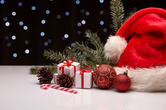 Fondo de Chrismas y del Año Nuevo Imagen de archivo libre de regalías