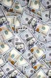 Fondo de cientos billetes de dólar de la nueva muestra Fotos de archivo libres de regalías