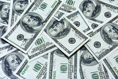 Fondo de cientos cuentas de dólar Imagen de archivo libre de regalías