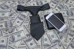 Fondo de cientos cuentas de dólar Foto de archivo libre de regalías