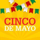 Fondo de Cinco De Mayo para una celebración celebrada el 5 de mayo Plantilla mexicana del día de fiesta en colores de la bandera