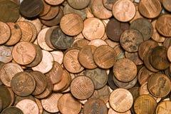 Fondo de cobre Fotografía de archivo libre de regalías