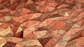 Fondo de cobre de los triángulos Stock de ilustración