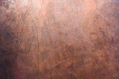 Fondo de cobre o de cobre amarillo, textura del metal no ferroso fotografía de archivo