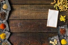 Fondo de cocinar creativo Endecha plana fotos de archivo libres de regalías