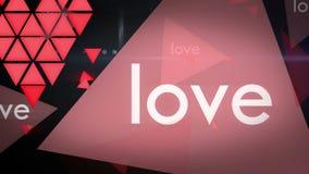 Fondo de colocación de la animación del gráfico del movimiento del amor almacen de video