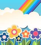 Fondo de Colorfull con la flor Imagen de archivo libre de regalías