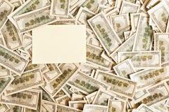 Fondo de $ 100 con el espacio para el texto Fotografía de archivo