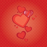 Fondo de corazones Imágenes de archivo libres de regalías