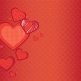 Fondo de corazones Foto de archivo libre de regalías