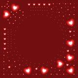 Fondo de corazones que brillan intensamente Imagen de archivo libre de regalías
