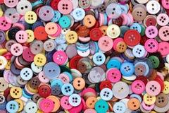 Fondo de costura colorido de los botones Imagen de archivo libre de regalías