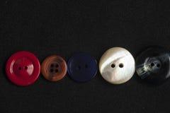 Fondo de costura mezclado de los botones Fotos de archivo libres de regalías